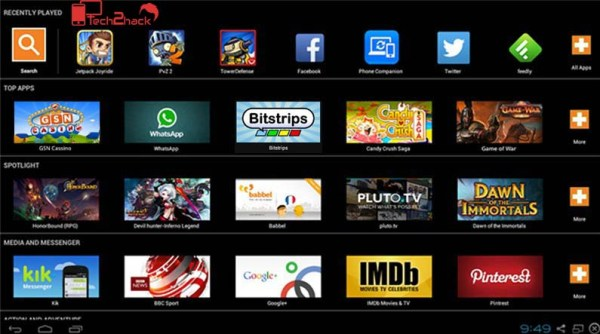 best android emulator for PC-bluestacks screen