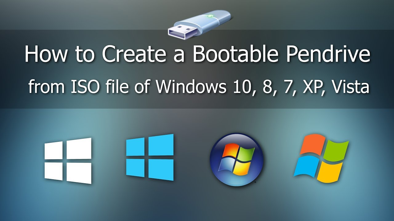 How to create bootable USB pendrive for Windows 10,8,7,XP — Tech2Hack