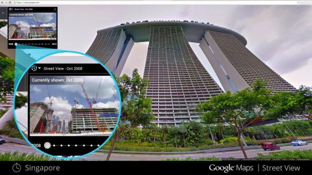 Google Street View time machine