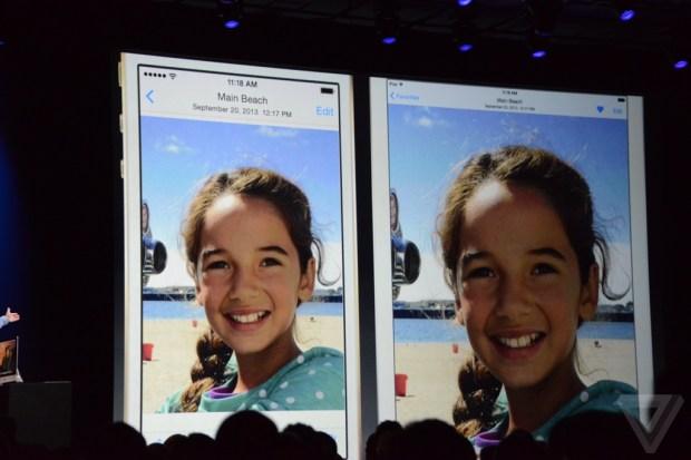 Apple iOS 8 Photo app