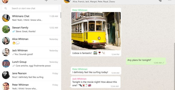 WhatsApp desktop versie