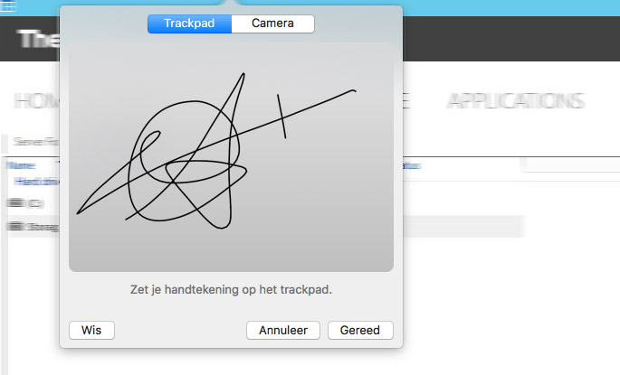 Handtekening macOS