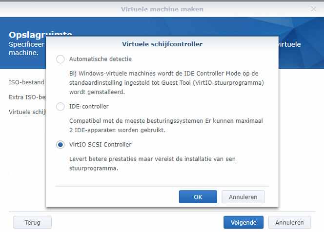 Synology Virtual Machine Manager nieuwe VM 05