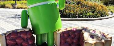 android pie google standbeeld