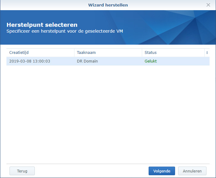 Synology Active Backup Restore 03