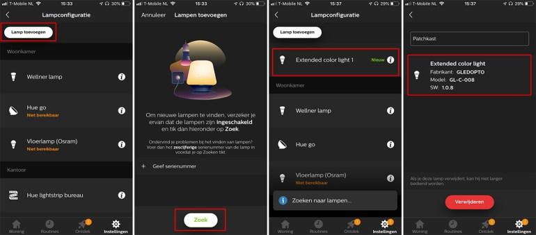 Gledopto controller in Hue app