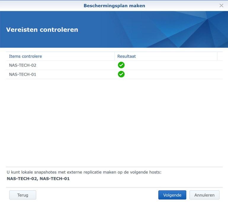 Synology VMM Snapshot replication BeschermPlan02