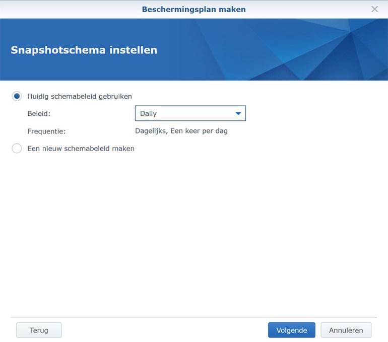 Synology VMM Snapshot replication BeschermPlan04