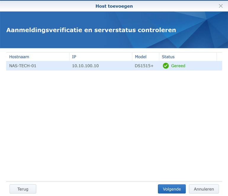 Synology VMM Snapshot replication Cluster 06