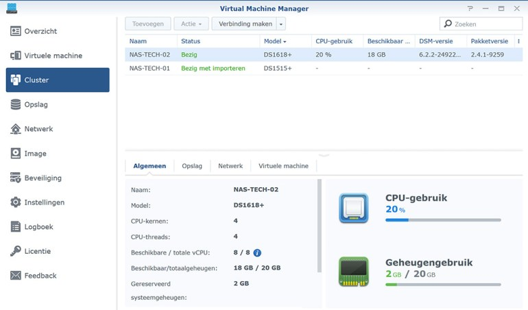 Synology VMM Snapshot replication Cluster 07