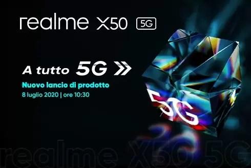 realme x50 5g uscita italia