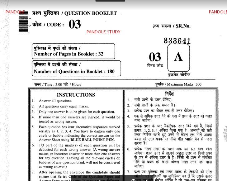 Rajasthan Patwari Previous Year Question Paper 2015 In Hindi