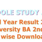 BA 2nd Year Result 2019 All University BA 2nd Result Name wise Download in hindi