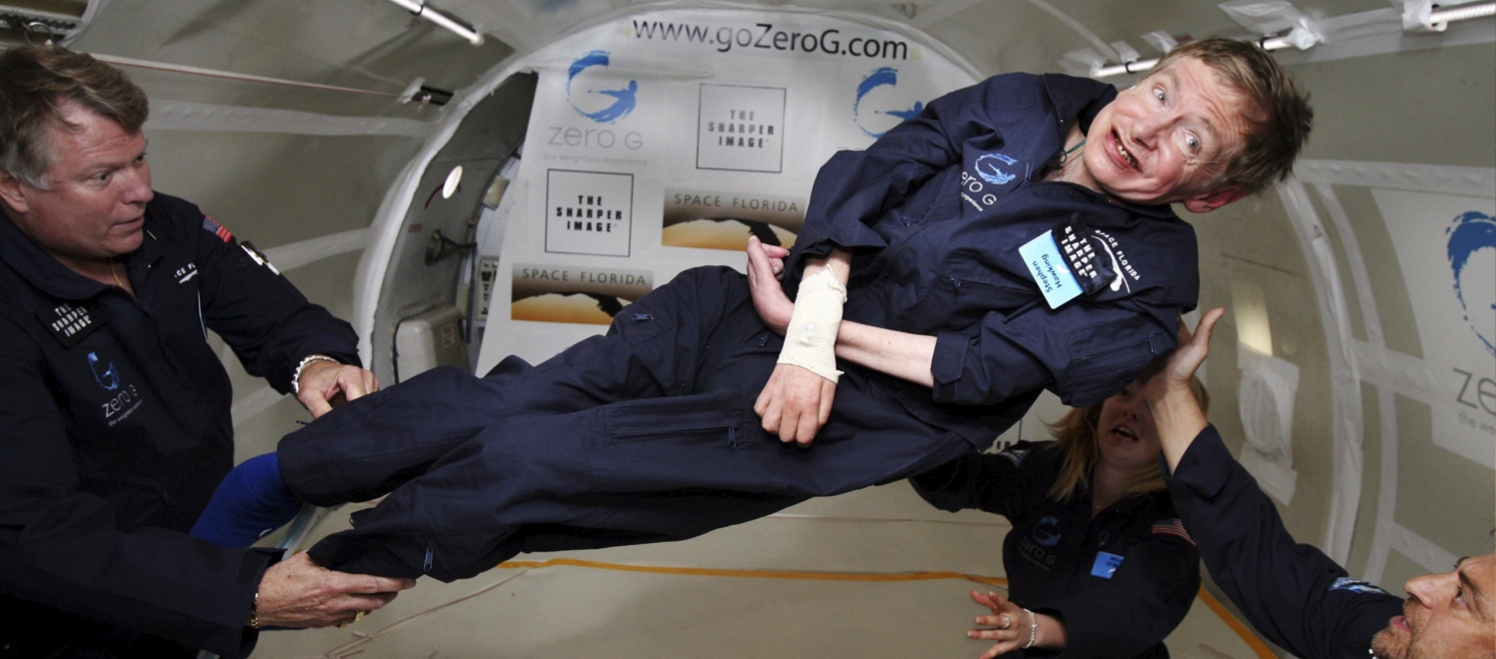 stephen hawking in space