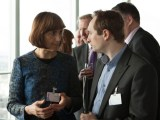 Fiona Miller, BT, networking at the launch