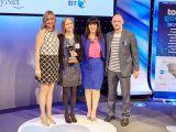 Rachael Moat accepting her award