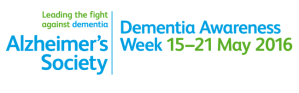 Banner advertising Dementia Awareness Week