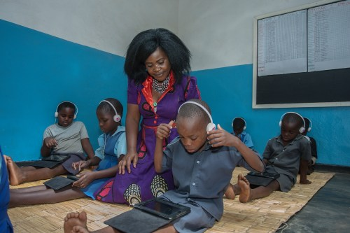 Teacher Grace, Chigwechokha supervises learners in the Unlocking Talent Learning Centre at Chiuzimbi Primary School in Lilongwe City's Area 25, Malawi, September 21, 2017. Teachers are some of the most hard-working and under-valued members of society with a crucial role at the front line of development. VSO is using its deep-rooted access to raise their voices to call for change and more support. VSO /AMOS GUMULIRA