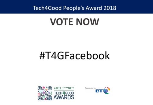 Facebook, Accessibility Award Finalists