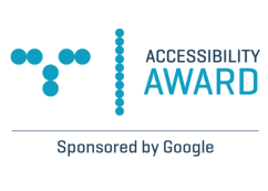 Accessibility Award sponsored by Google logo