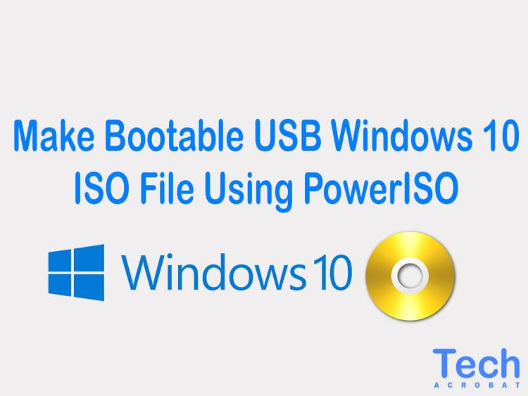 making a bootable usb from iso windows 10