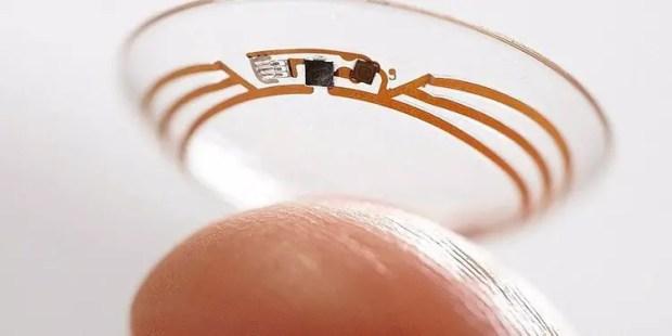 Solar Powered Contact Lens google patent
