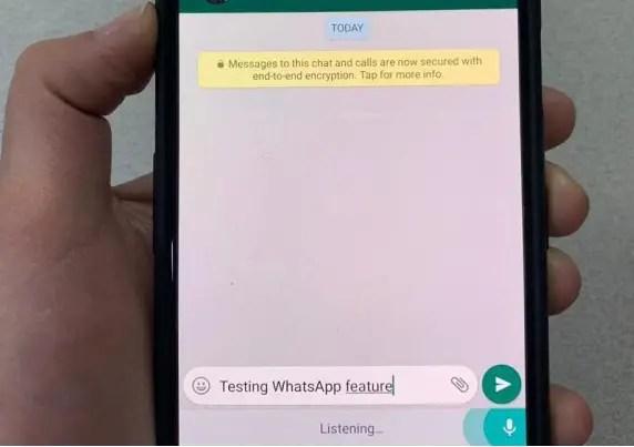 whatsapp mic feature