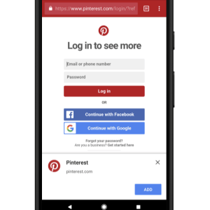 Pinterest Progressive Web Apps