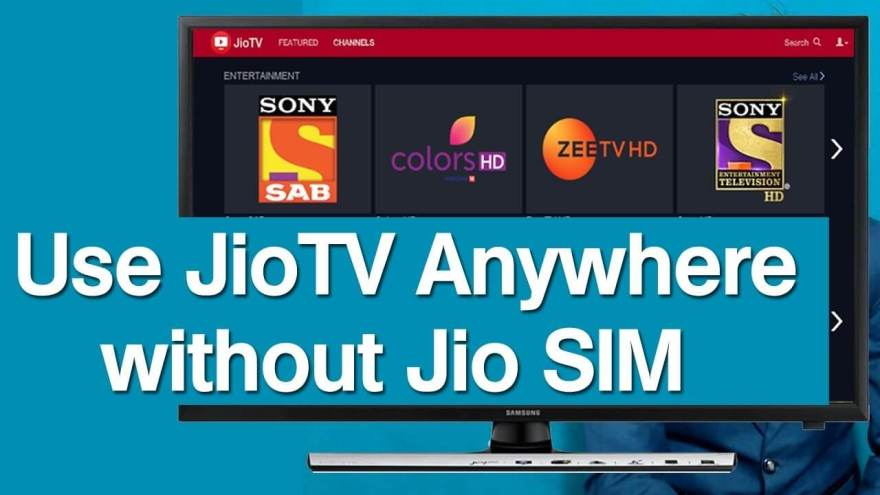 jiotv web version without jio sim