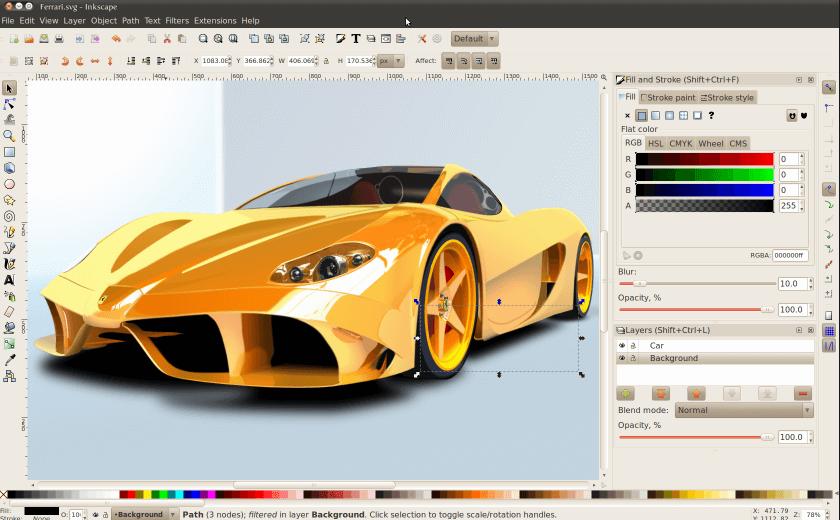 Logo vector design inkscape