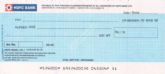 cheque book kya hai