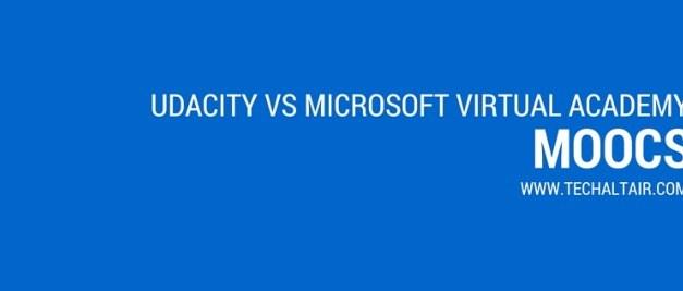 Udacity Vs. Microsoft Virtual Academy[MVA]