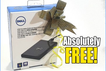 Tech ARP 2015 Giveaway : Dell Portable HDD (Results)