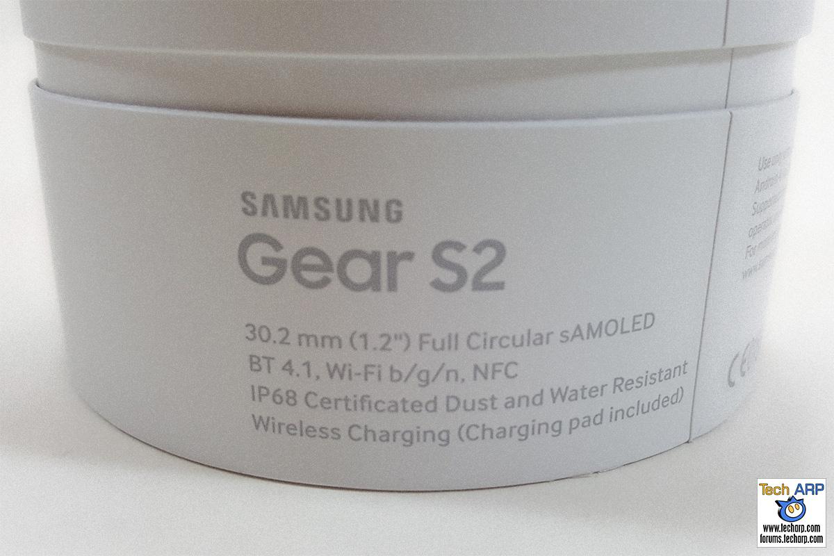 Samsung Gear S2 Box