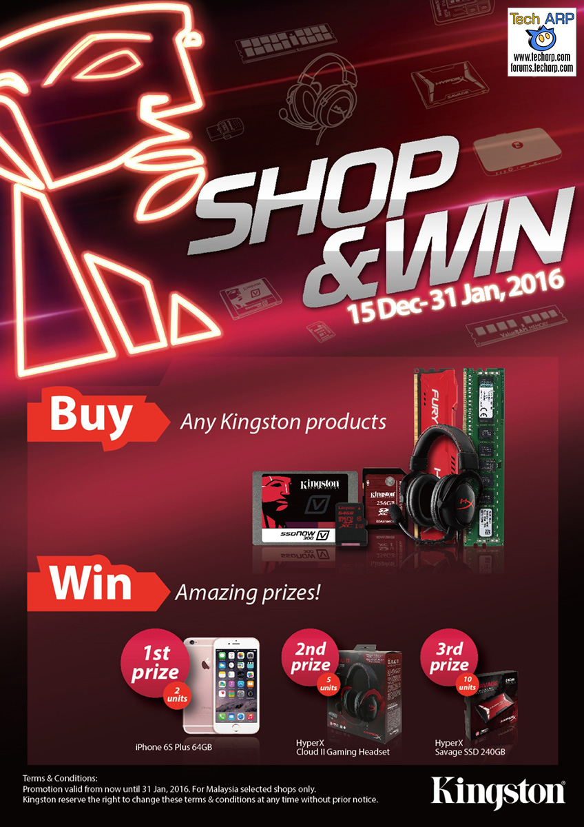 Kingston Shop and Win Promotion 2015!