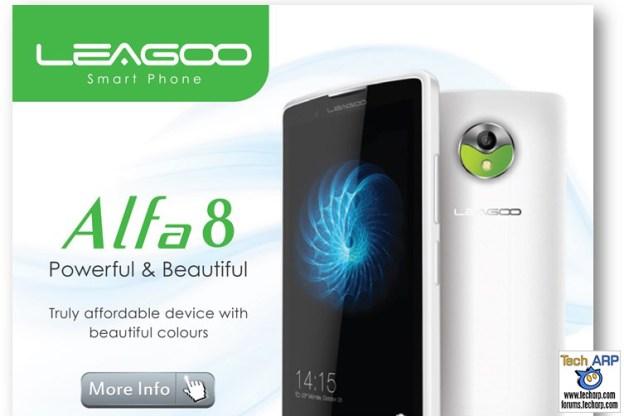 LEAGOO Alfa 8 Smartphone Launched