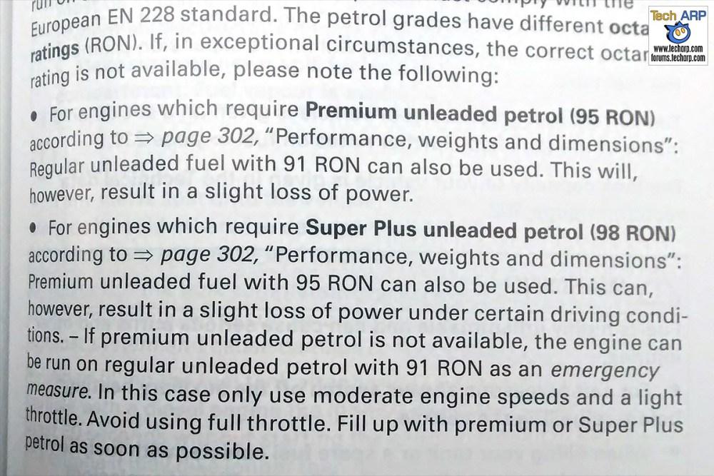 how to run higher octane fuel