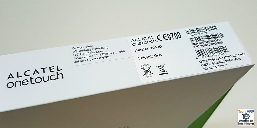 Alcatel Flash 2 Smartphone Box