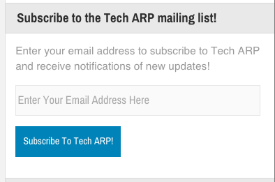 Subscribe To Tech ARP