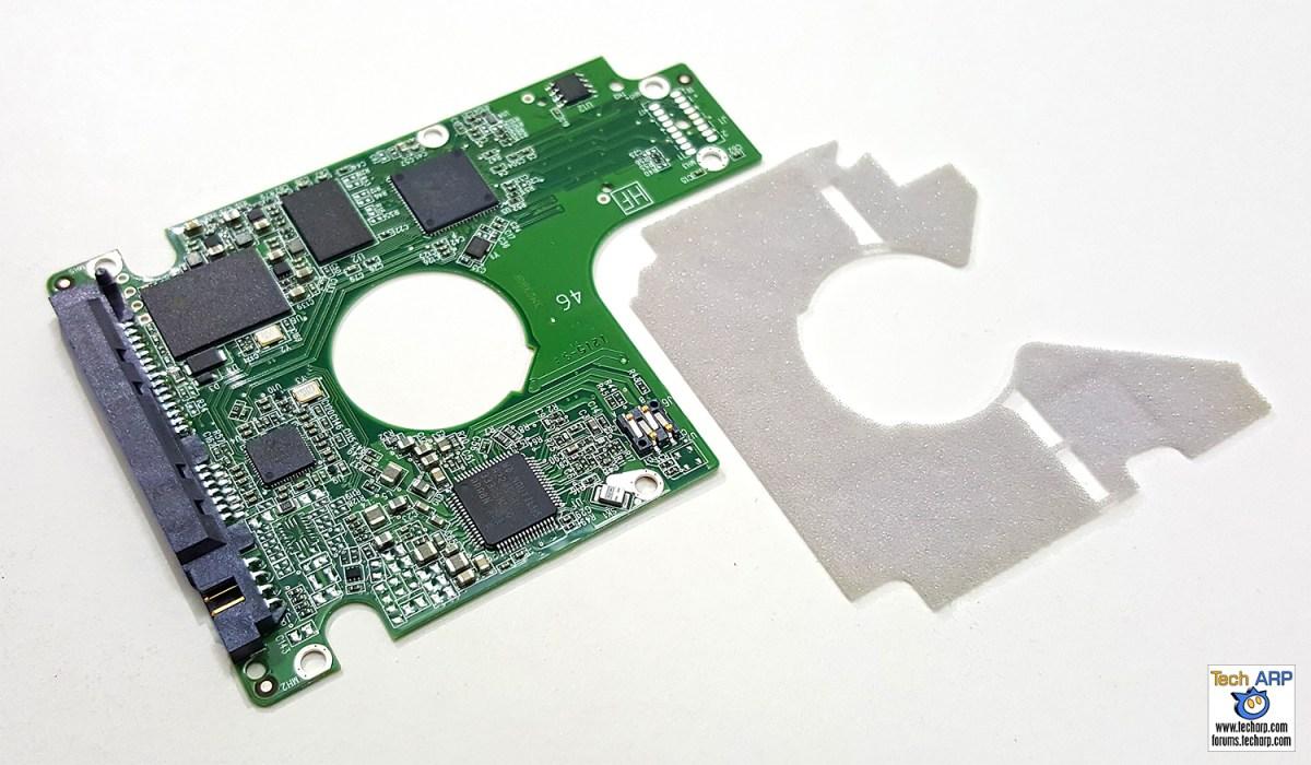 WD Blue SSHD (WD10J31X) PCB removed