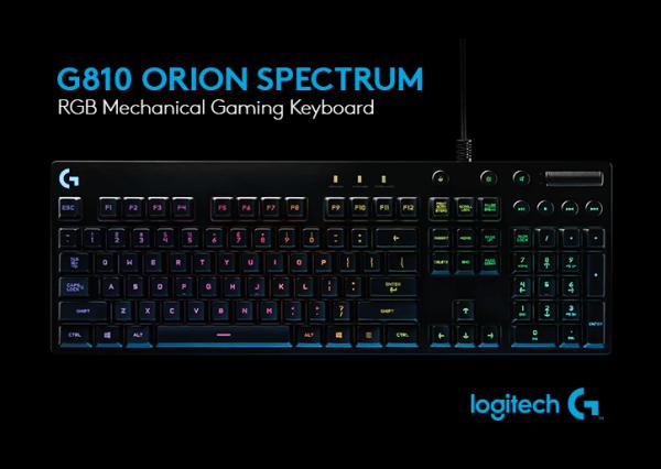 Logitech G810 Orion Spectrum Mechanical Keyboard
