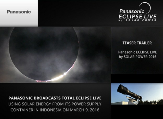 Panasonic Eclipse Live By Solar Power 2016