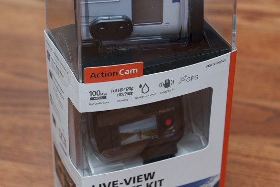 Sony FDR-X1000V Action Camera Box