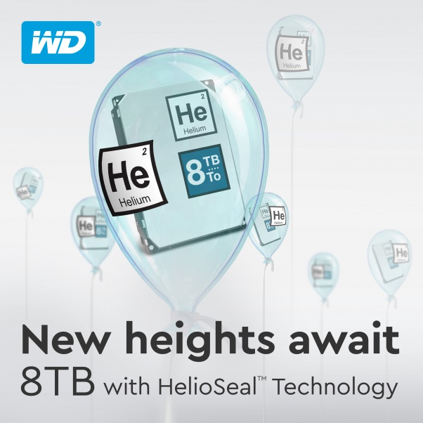 WD HelioSeal Technology Expands Storage Capacity to 8TB
