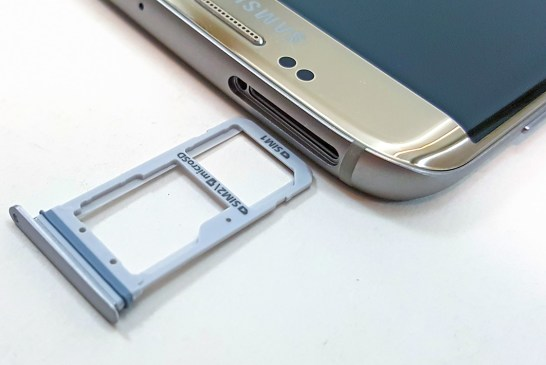 Samsung Galaxy S7 edge SIM card slot
