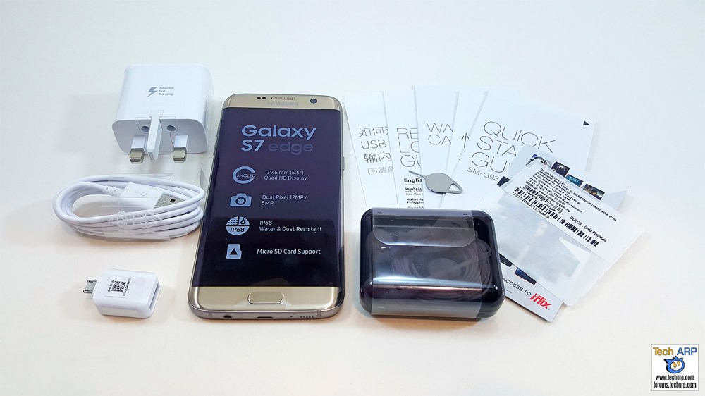 Samsung Galaxy S7 edge box contents