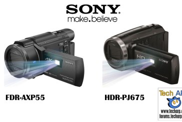Sony Handycam FDR-AXP55 & HDR-PJ675 Camcorders Released