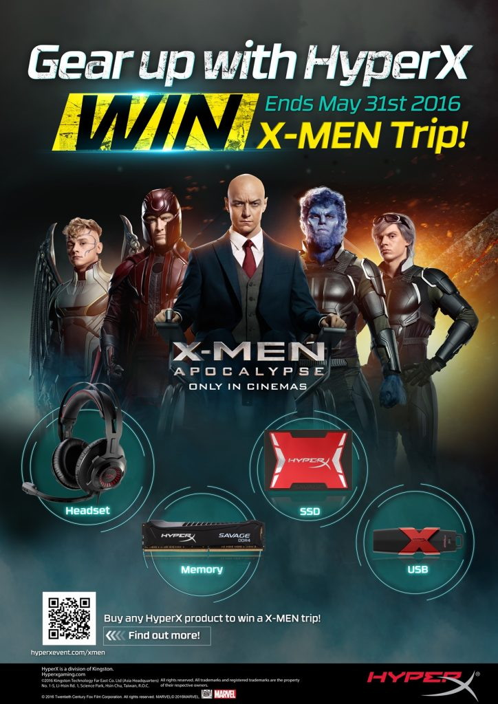 Gear Up With HyperX & Win X-Men Trip