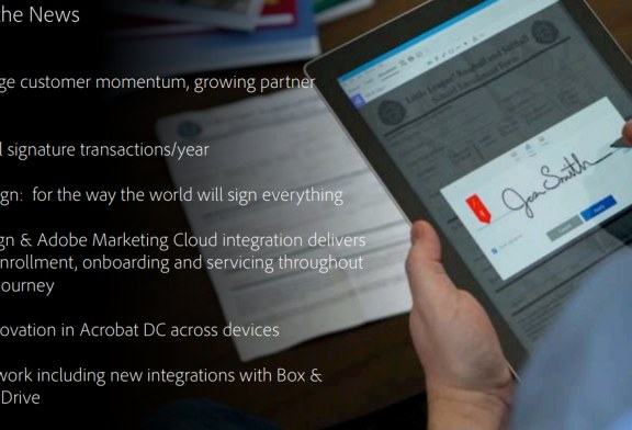 Adobe Sign Integrated With Adobe Marketing Cloud
