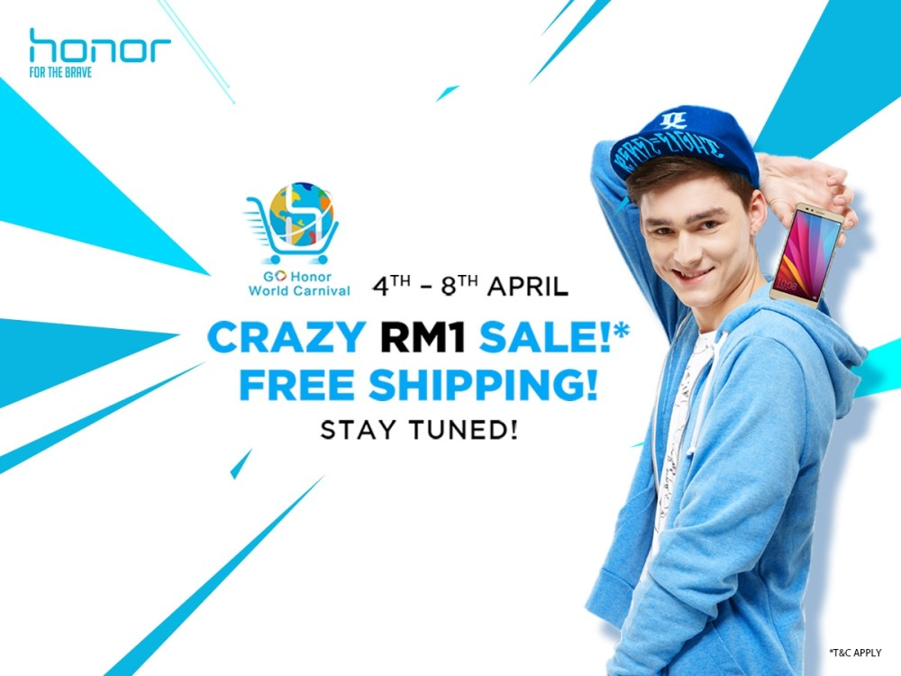 honor Malaysia Crazy RM1 Sale